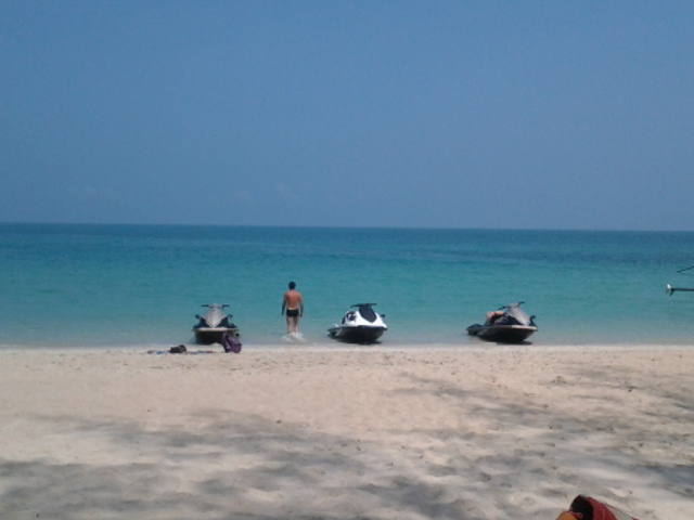 Had yao beach with jet ski