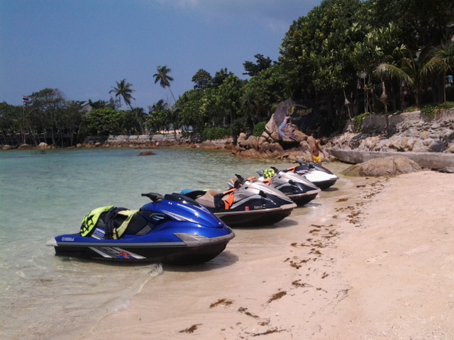 Secret beach with phangan jet ski